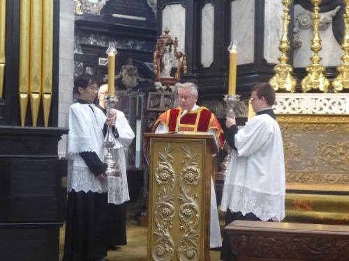 Evangelie door diaken Vladimir Palte